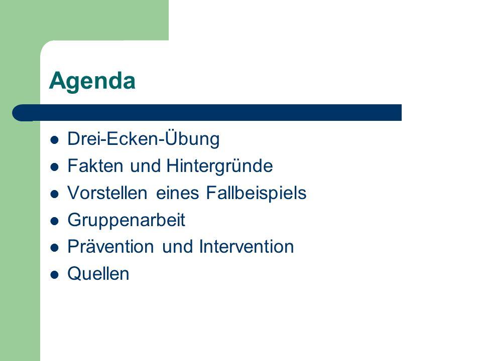 Agenda Drei-Ecken-Übung Fakten und Hintergründe