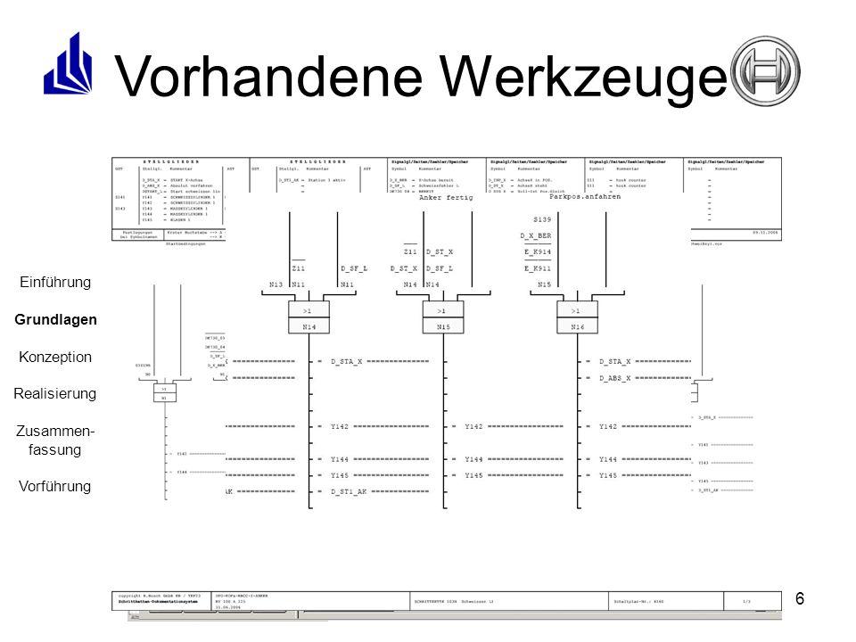 Vorhandene Werkzeuge Ablaufsprache (AS) Strukturierter Text (ST)