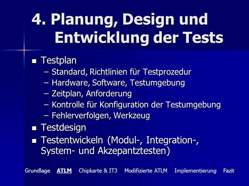 4. Planung, Design und Entwicklung der Tests
