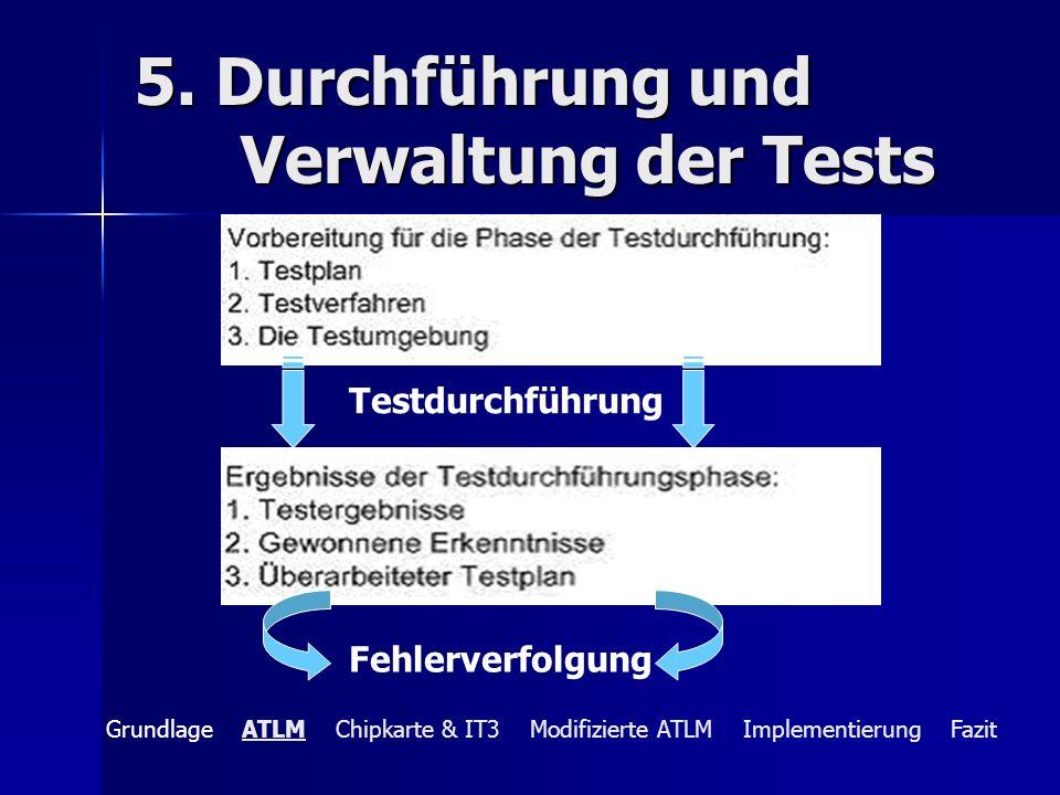 5. Durchführung und Verwaltung der Tests