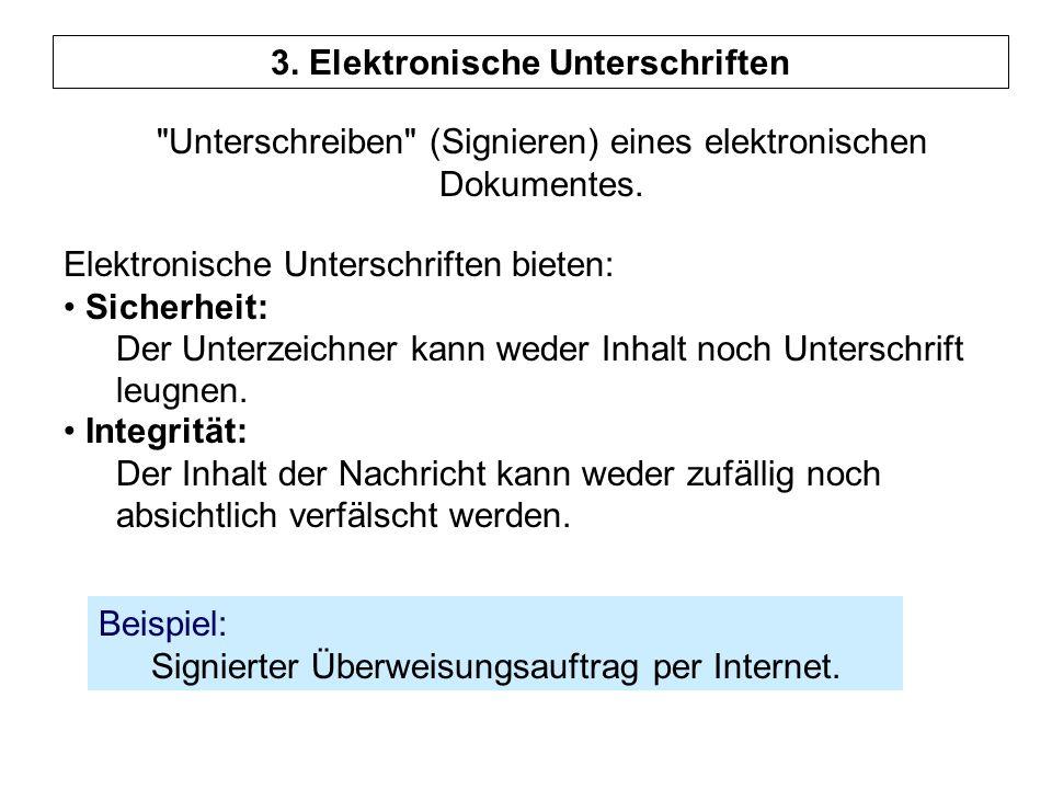 3. Elektronische Unterschriften