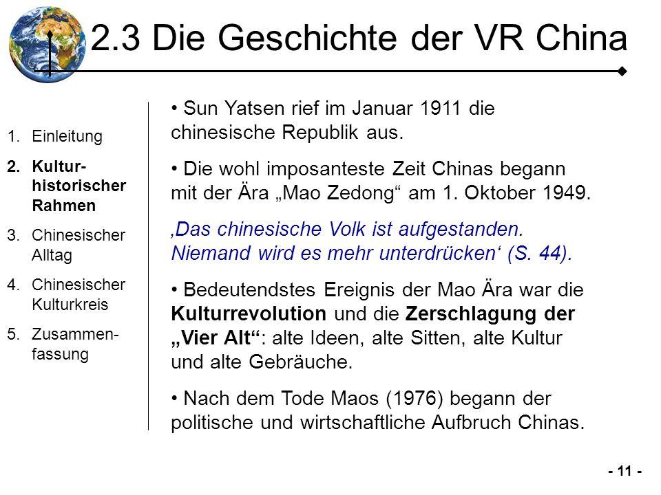 2.3 Die Geschichte der VR China