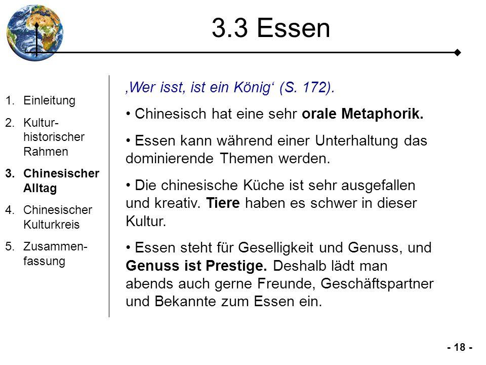 3.3 Essen 'Wer isst, ist ein König' (S. 172).