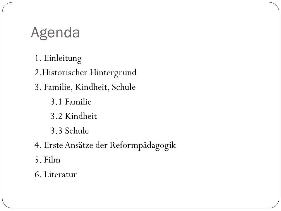 Agenda 1. Einleitung 2.Historischer Hintergrund