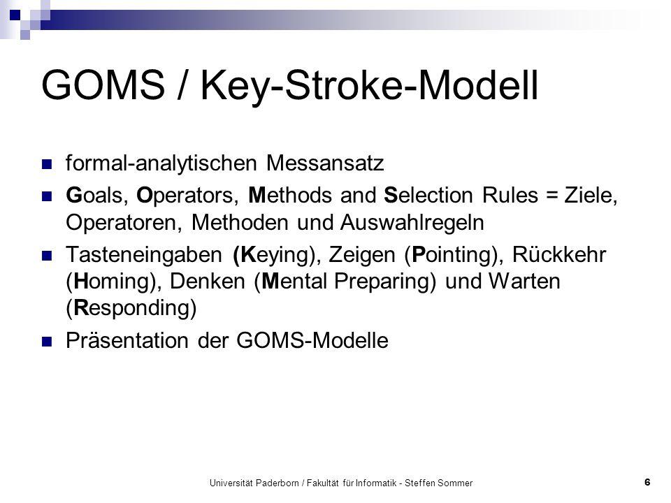 GOMS / Key-Stroke-Modell