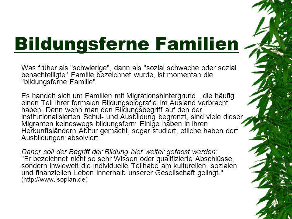 Bildungsferne Familien