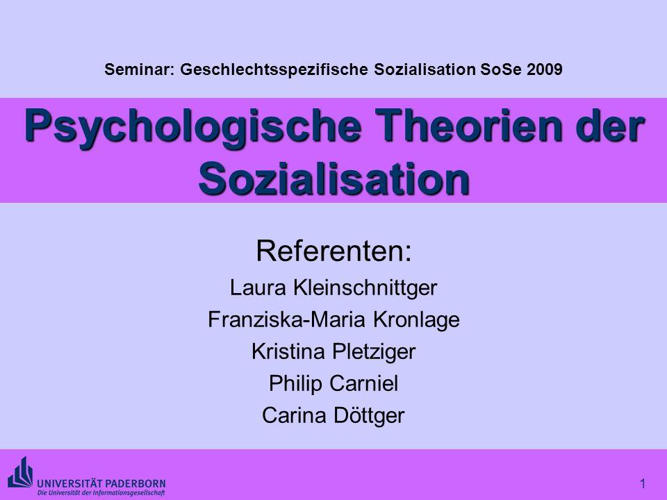 Psychologische Theorien der Sozialisation