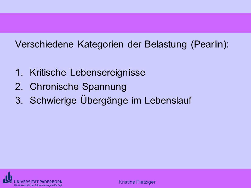 Verschiedene Kategorien der Belastung (Pearlin):