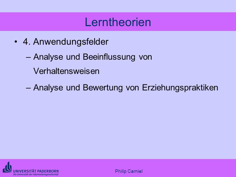 Lerntheorien 4. Anwendungsfelder