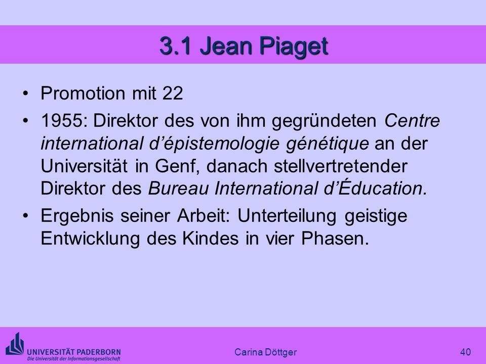 3.1 Jean Piaget Promotion mit 22