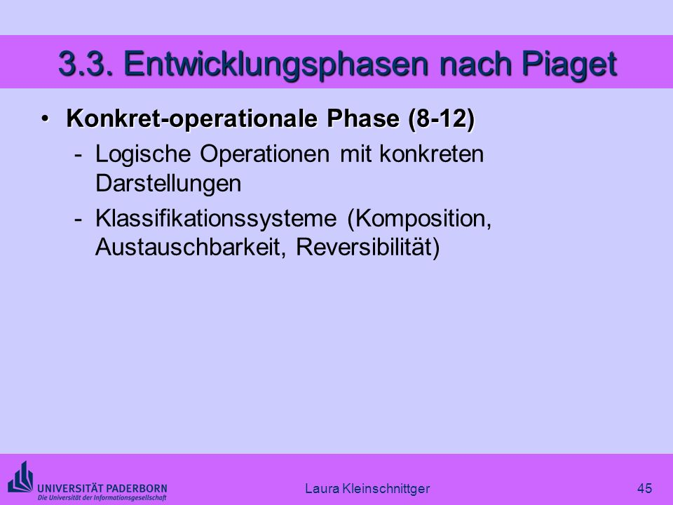 3.3. Entwicklungsphasen nach Piaget