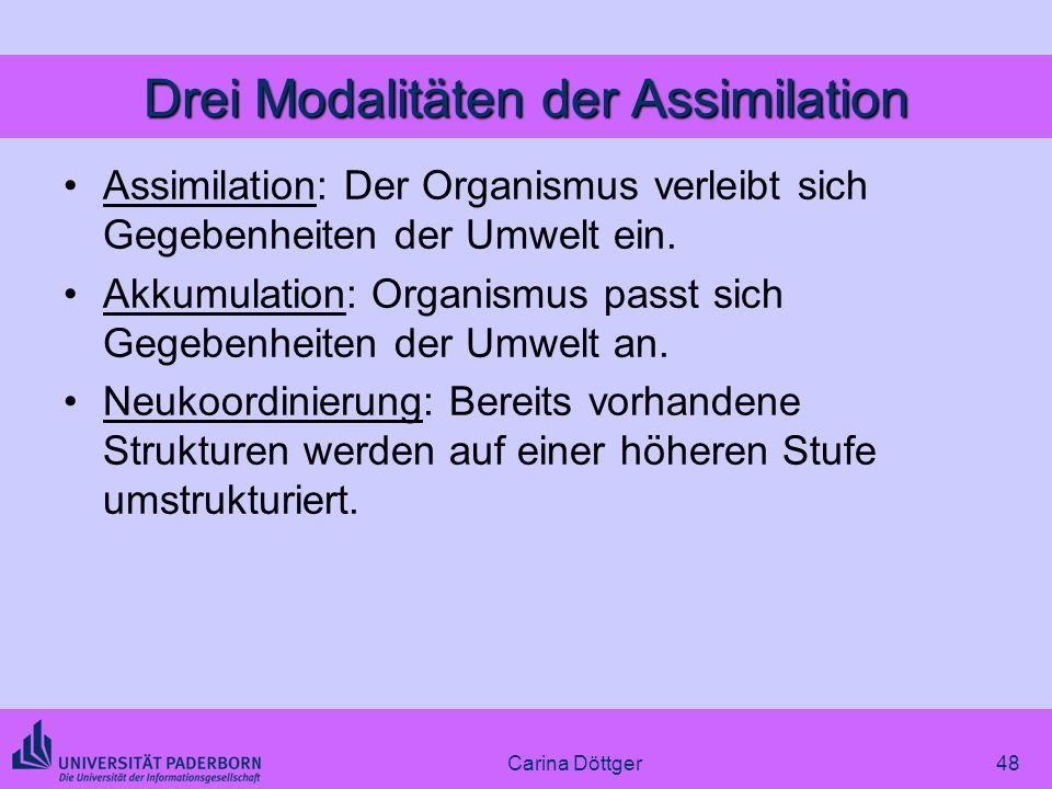 Drei Modalitäten der Assimilation