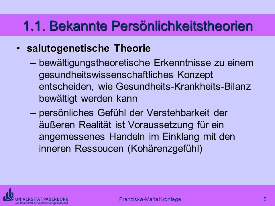 1.1. Bekannte Persönlichkeitstheorien