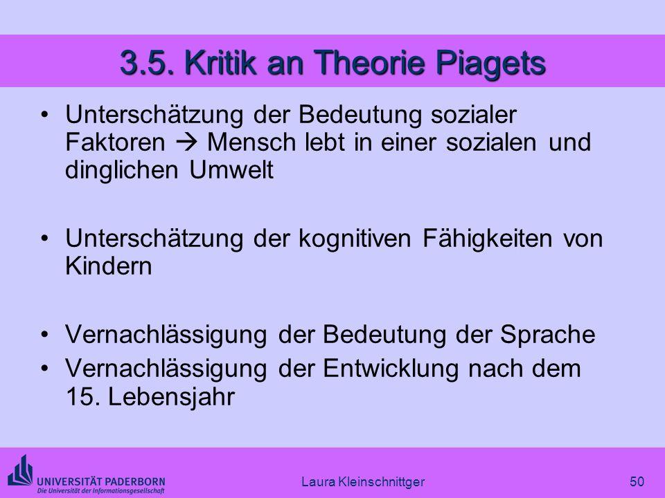 3.5. Kritik an Theorie Piagets