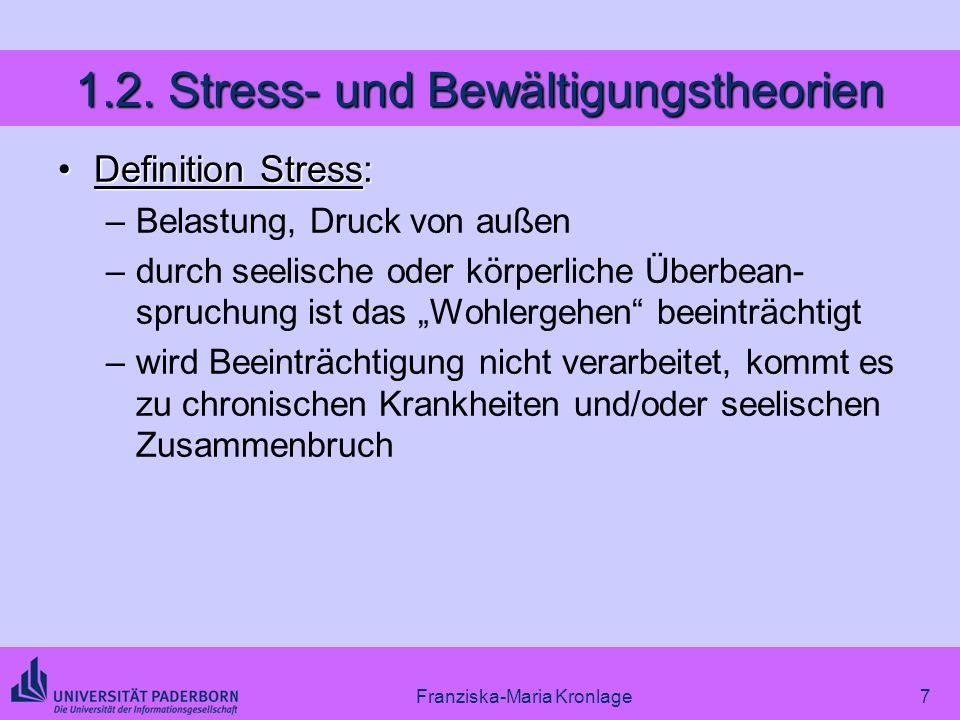 1.2. Stress- und Bewältigungstheorien