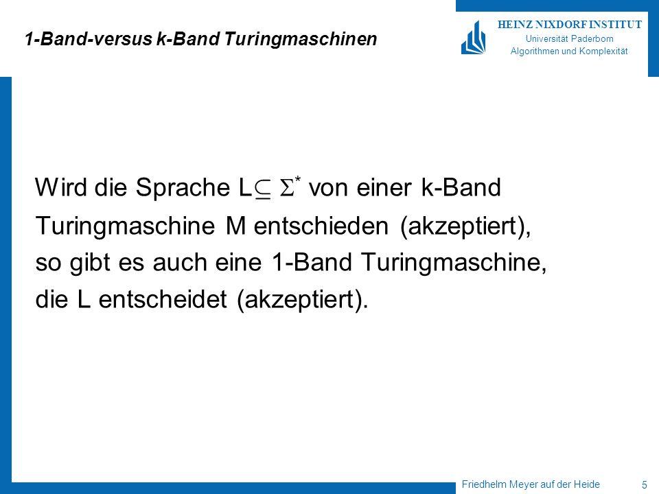 1-Band-versus k-Band Turingmaschinen