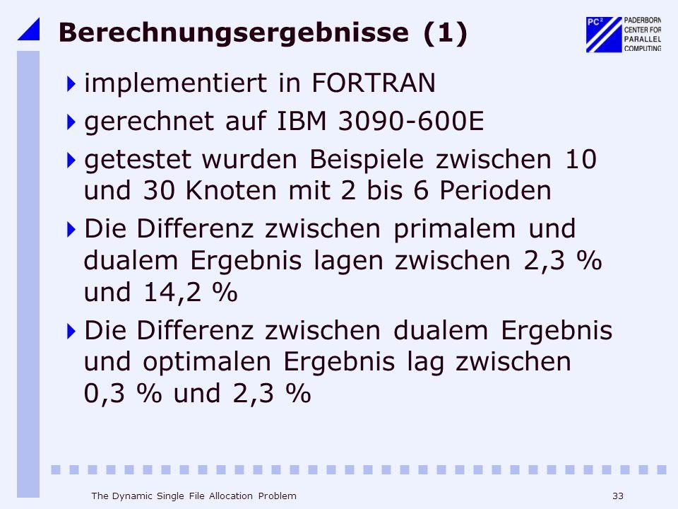 Berechnungsergebnisse (1)