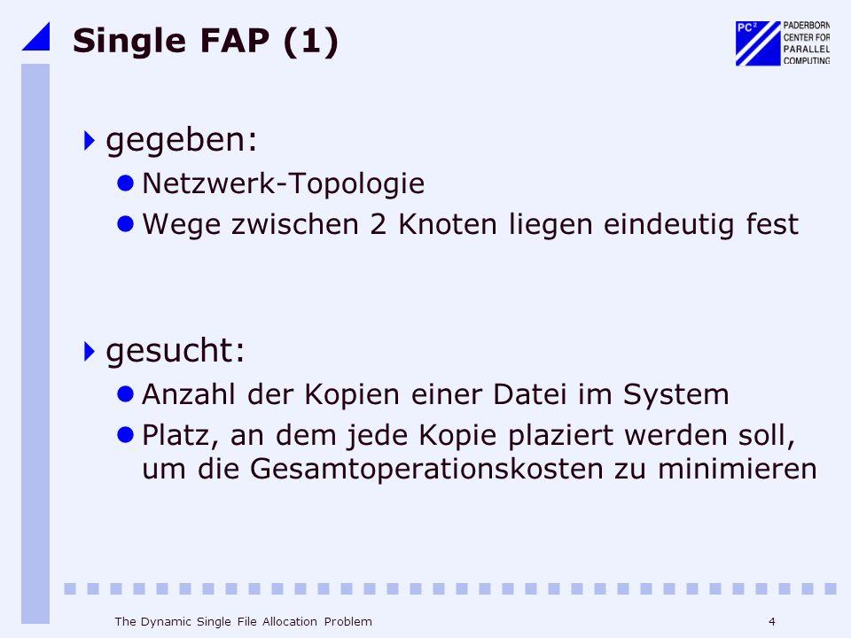 Single FAP (1) gegeben: gesucht: Netzwerk-Topologie