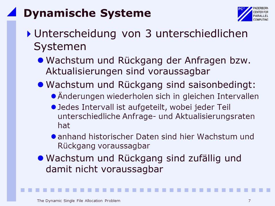 Unterscheidung von 3 unterschiedlichen Systemen
