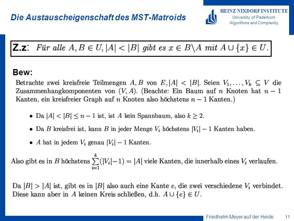Die Austauscheigenschaft des MST-Matroids