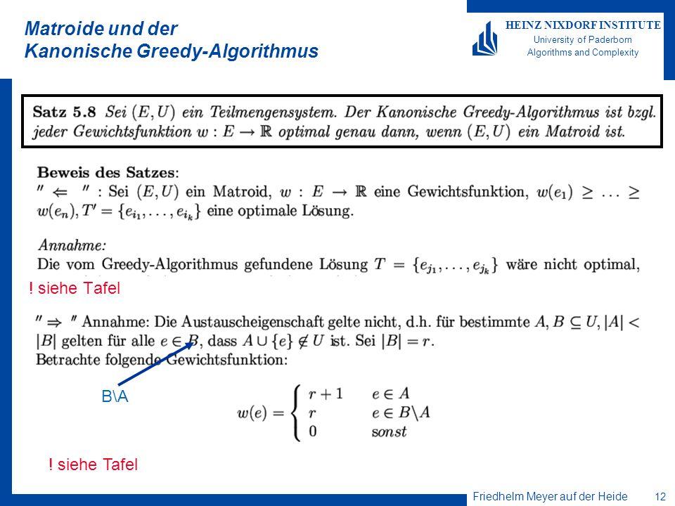 Matroide und der Kanonische Greedy-Algorithmus