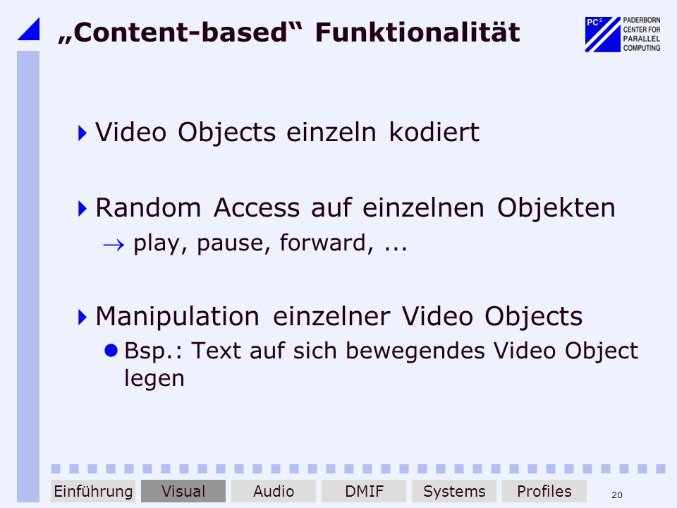"""Content-based Funktionalität"