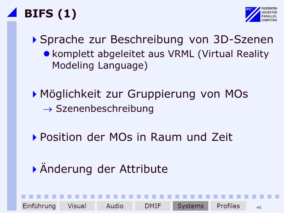 Sprache zur Beschreibung von 3D-Szenen