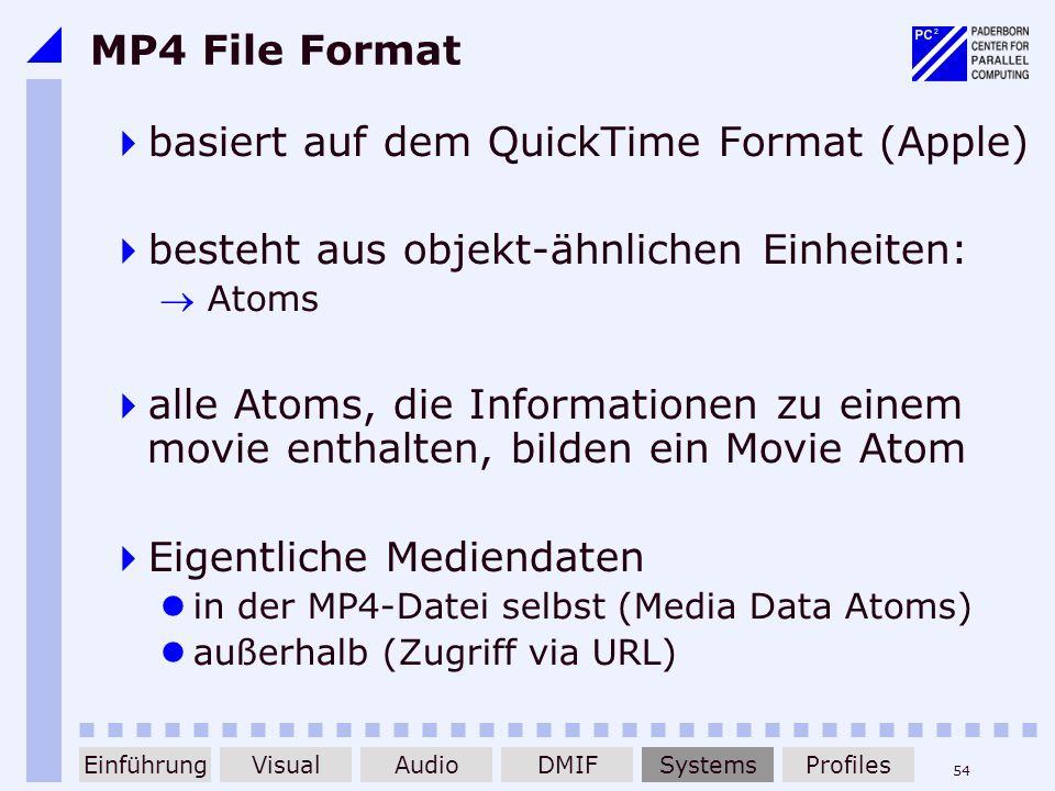 basiert auf dem QuickTime Format (Apple)