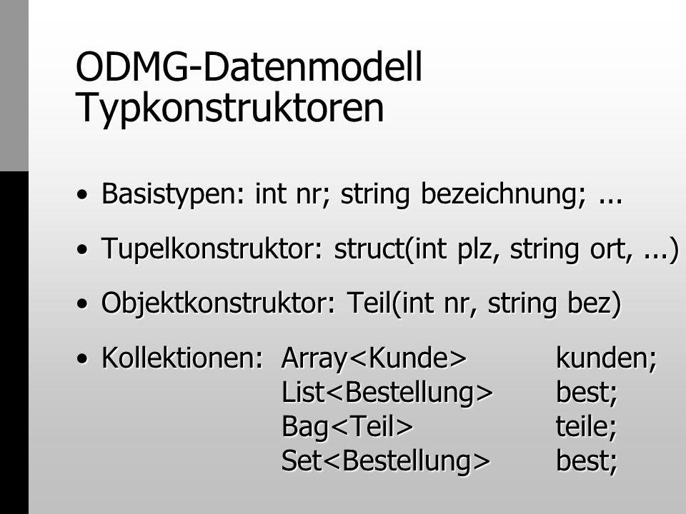 ODMG-Datenmodell Typkonstruktoren