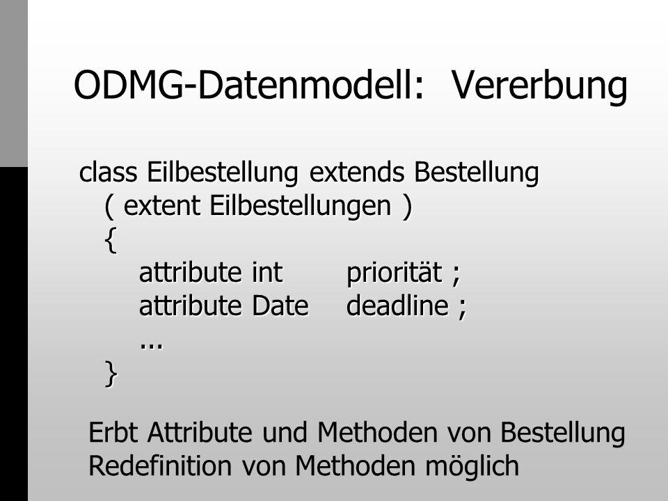 ODMG-Datenmodell: Vererbung