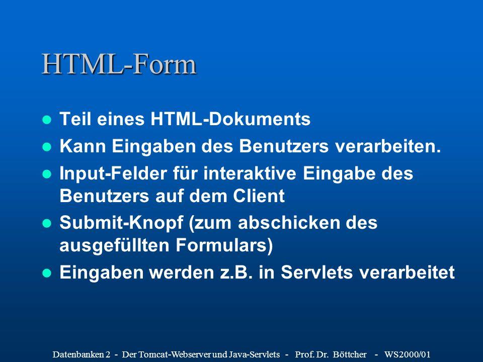 HTML-Form Teil eines HTML-Dokuments
