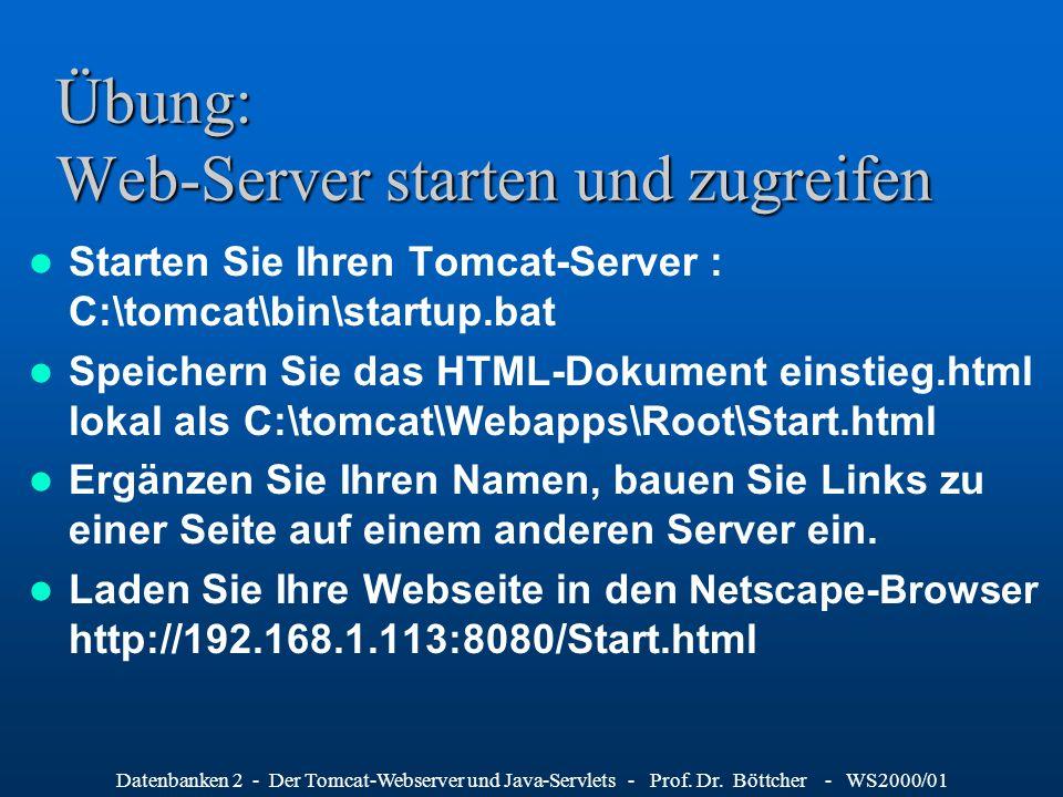 Übung: Web-Server starten und zugreifen