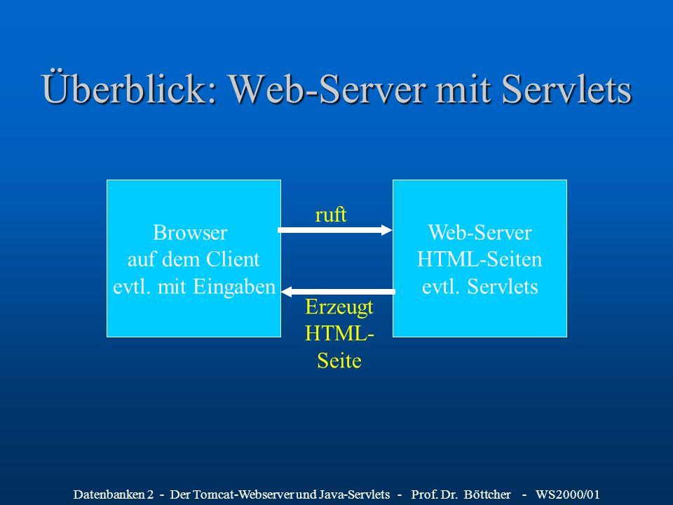 Überblick: Web-Server mit Servlets
