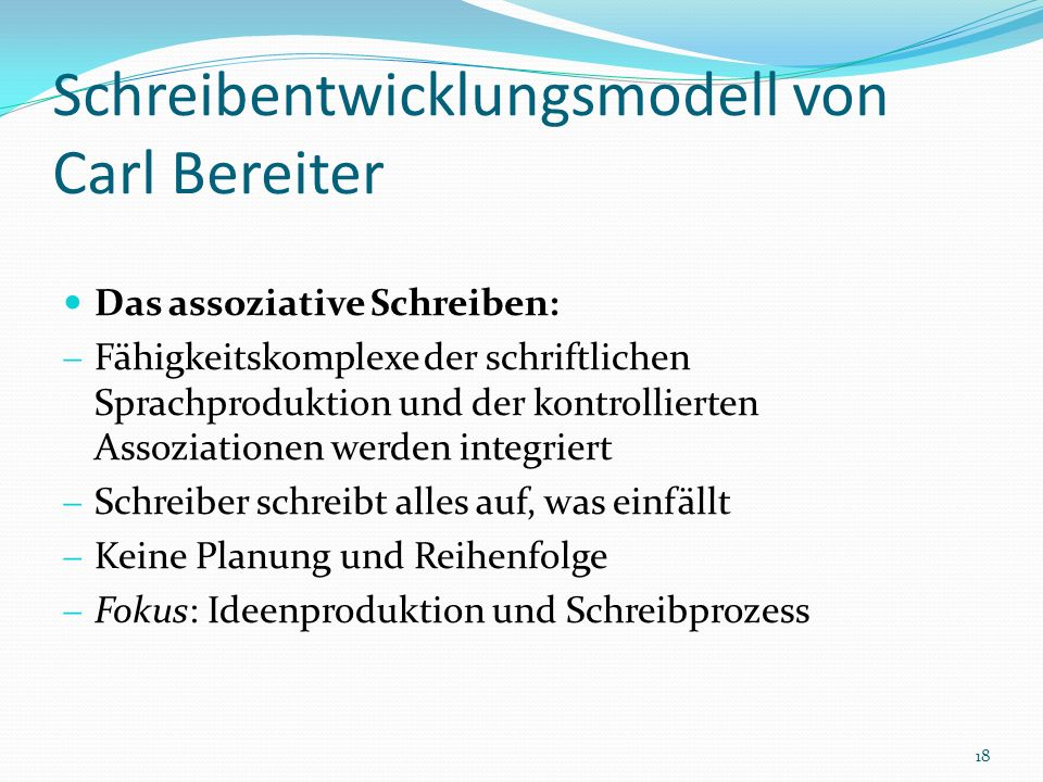 Schreibentwicklungsmodell von Carl Bereiter