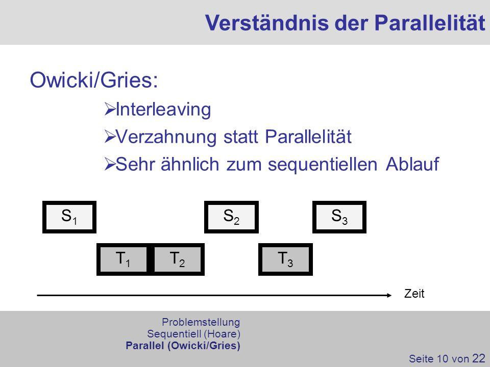 Verständnis der Parallelität