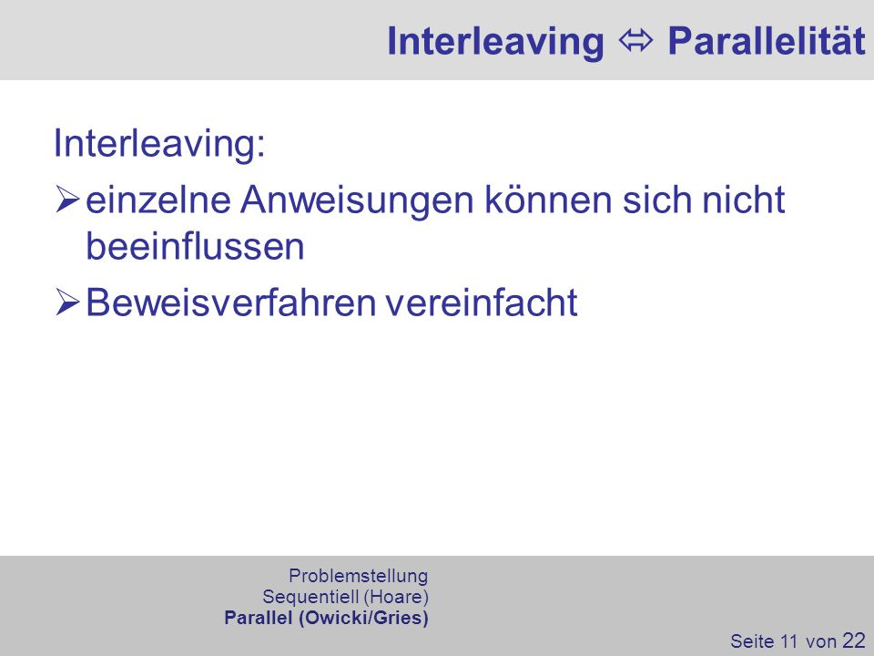 Interleaving  Parallelität