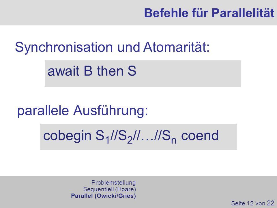 Synchronisation und Atomarität: