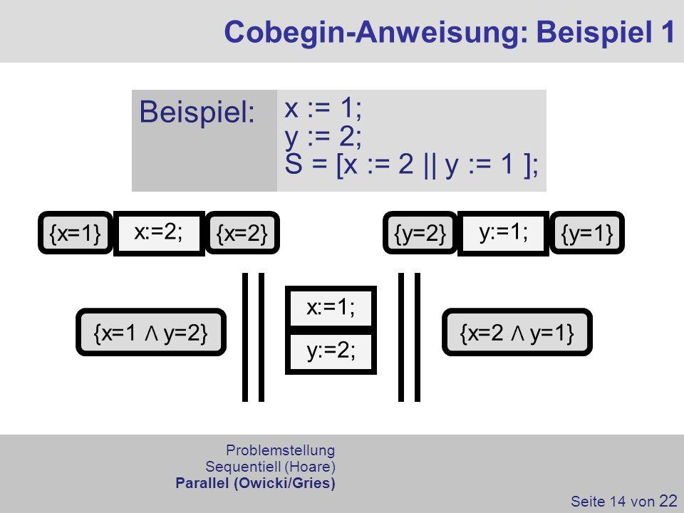 Cobegin-Anweisung: Beispiel 1