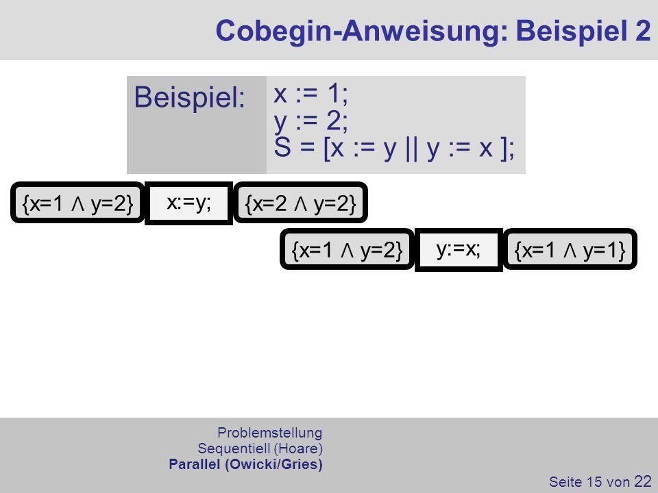 Cobegin-Anweisung: Beispiel 2