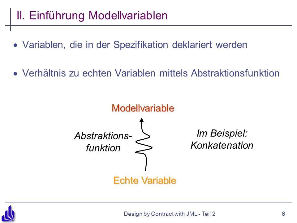 II. Einführung Modellvariablen