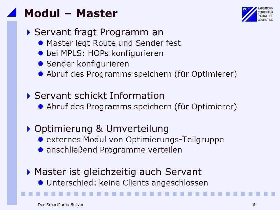 Modul – Master Servant fragt Programm an Servant schickt Information