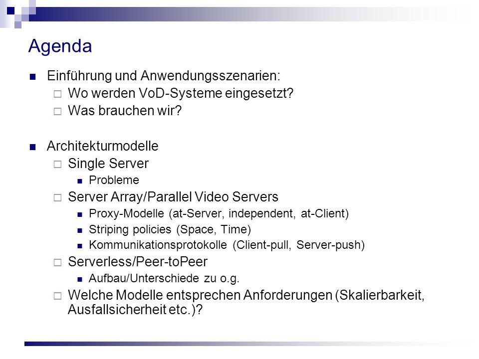 Agenda Einführung und Anwendungsszenarien: