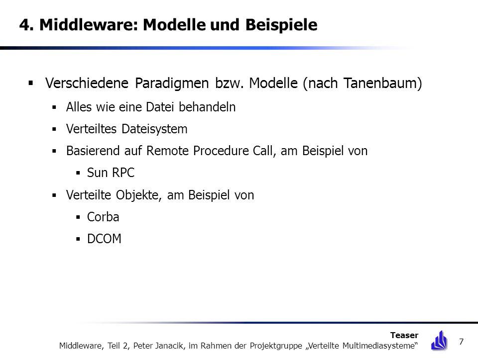 4. Middleware: Modelle und Beispiele