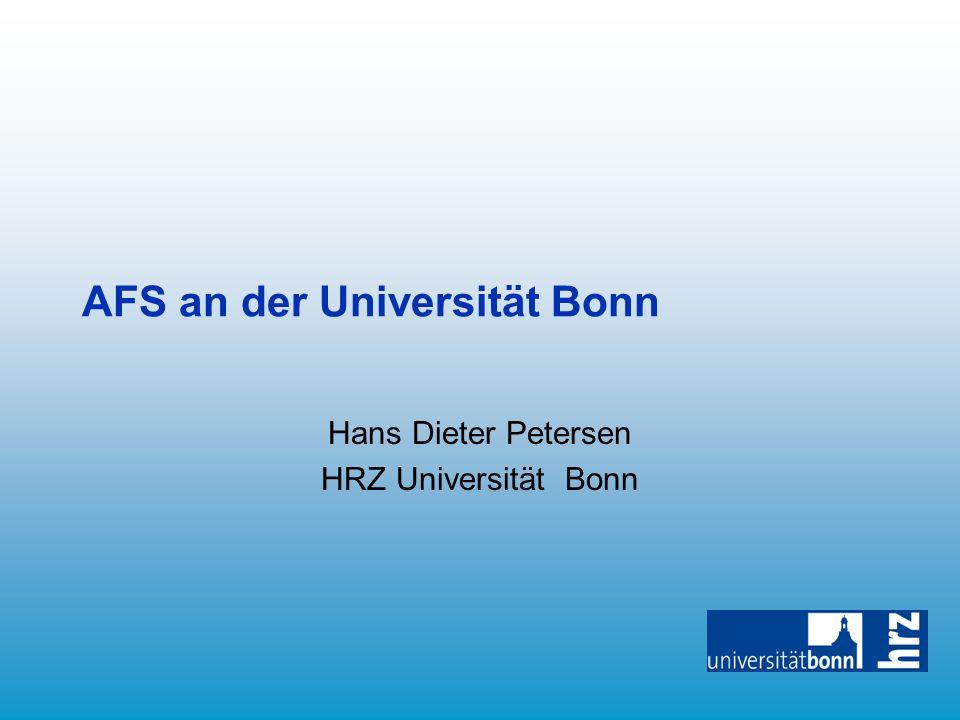 AFS an der Universität Bonn