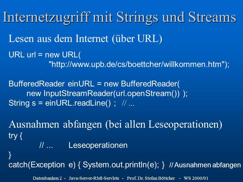 Internetzugriff mit Strings und Streams