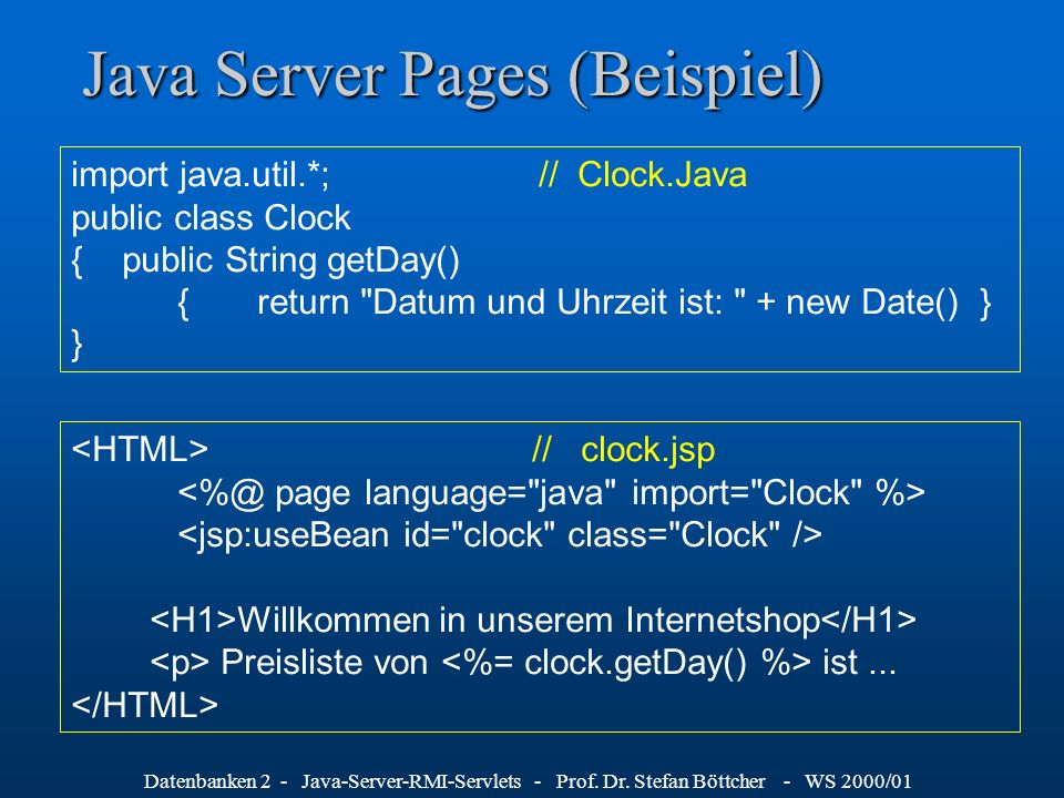 Java Server Pages (Beispiel)