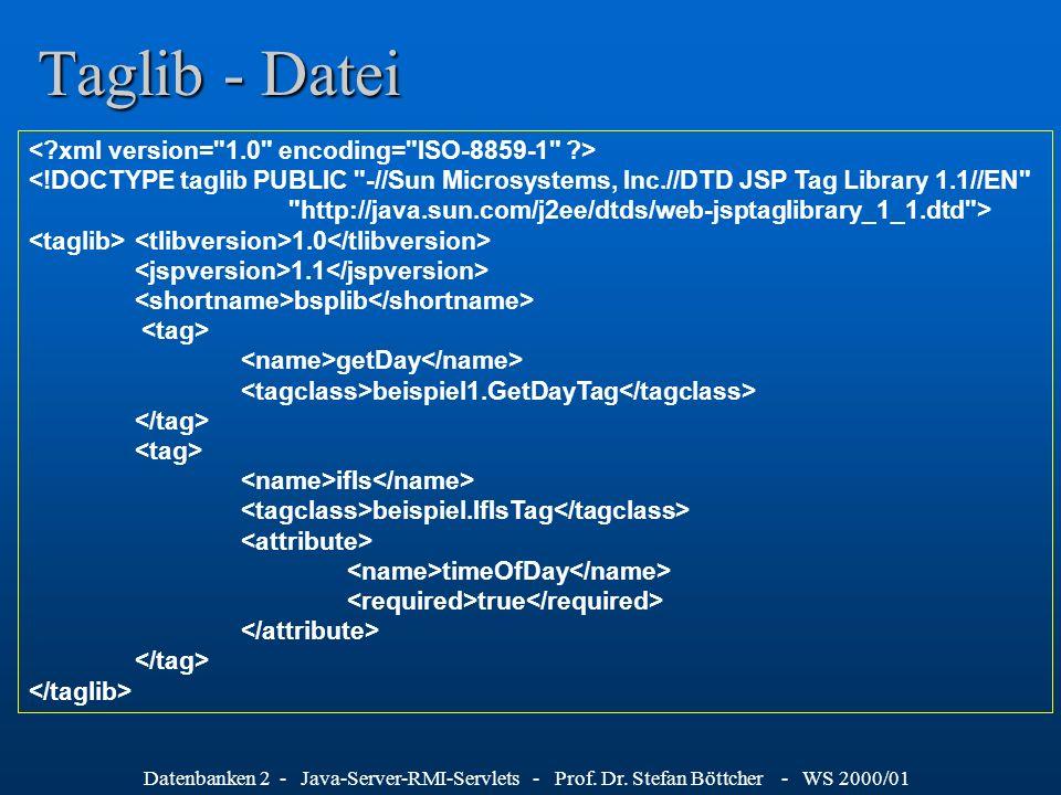 Taglib - Datei < xml version= 1.0 encoding= ISO-8859-1 >