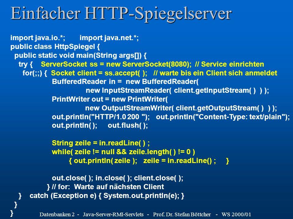 Einfacher HTTP-Spiegelserver