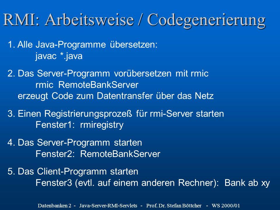 RMI: Arbeitsweise / Codegenerierung