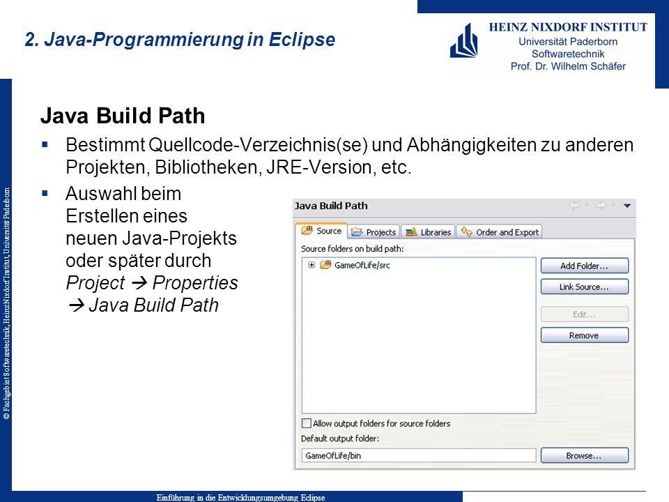 2. Java-Programmierung in Eclipse